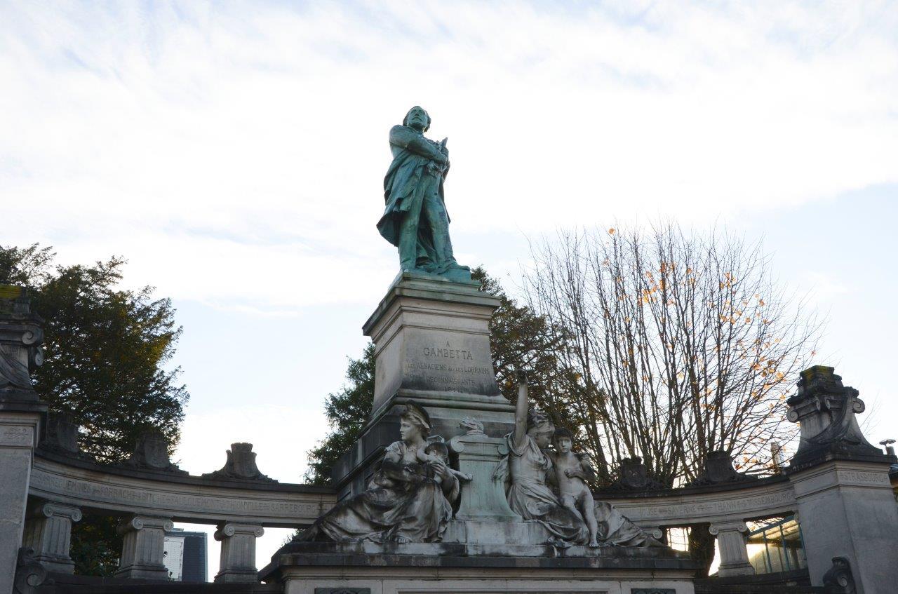 statue de Gambetta à Ville d'Avray