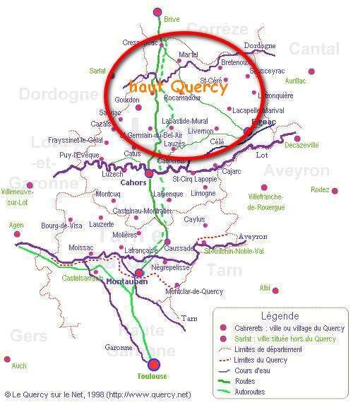 Le Haut-Quercy dans le Quercy