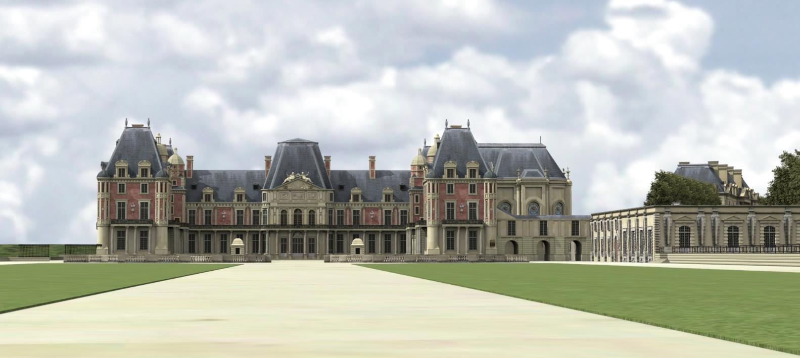 Restitution meudon chateau vieux detruit